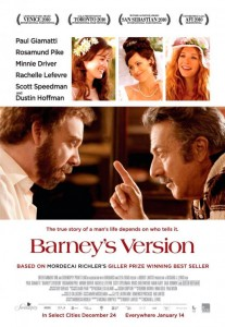 Barney's Version is the picaresque and touching story of the politically incorrect, fully lived life of the impulsive, irascible and fearlessly blunt Barney Panofsky.