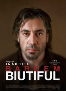 Biutiful is about a man embroiled in shady dealings who is confronted by a childhood friend, now a policeman.