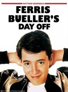 "As he was writing the film in 1985 Hughes kept progress on Ferris Bueller in spiral-bound logbook. Hughes speedily wrote the screenplay in less than a week, as his logbook notes: ""2-26 Night only 10 pages ... 2-27 26 pages ... 2-28 19 pages ... 3-1 9 pages ... 3-2 20 pages ... 3-3 24 pages."" Editor Paul Hirsch explained that Hughes had a trance-like concentration to his script-writing process, working for hours"