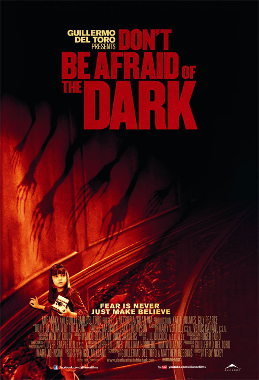Due to the sale of Miramax by Disney, the Don't Be Afraid of the Dark film release was put on hold until the sale was finalized