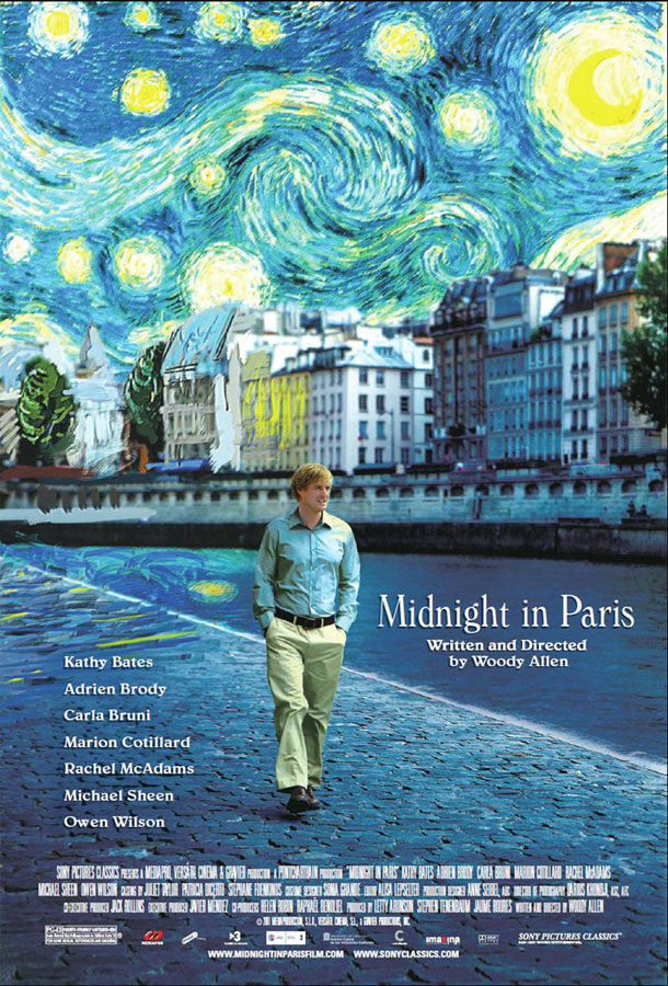 Midnight in Paris is about a young man's great love for a city, Paris, and the illusion people have that a life different from theirs would be much better.