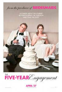 The Five-Year Engagement marks the third film on which Stoller and Apatow have worked with one another, and the fourth comedy that Apatow has produced for Segel.