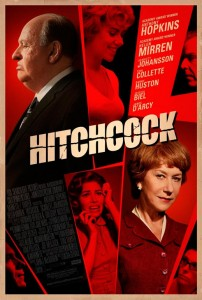 "John Patterson of The Guardian called the Hitchcock film  ""clever and witty""; ""the making of Psycho is depicted in detail without our seeing one frame of the completed movie"""