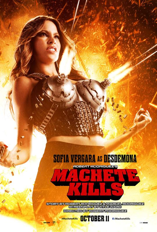 Machete costume designer Nina Procter returns for Machete Kills -- and she brought a machine gun bra with her.