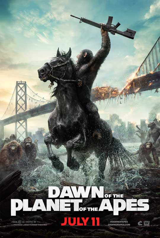 DAWN OF THE PLANET OF THE APES also explores how the apes evolved from the mostly mute but intelligent animals of Rise of the Planet of the Apes, into articulate, civilized beings that emerge as Earth's dominant species within the canon of the Planet of the Apes franchise.