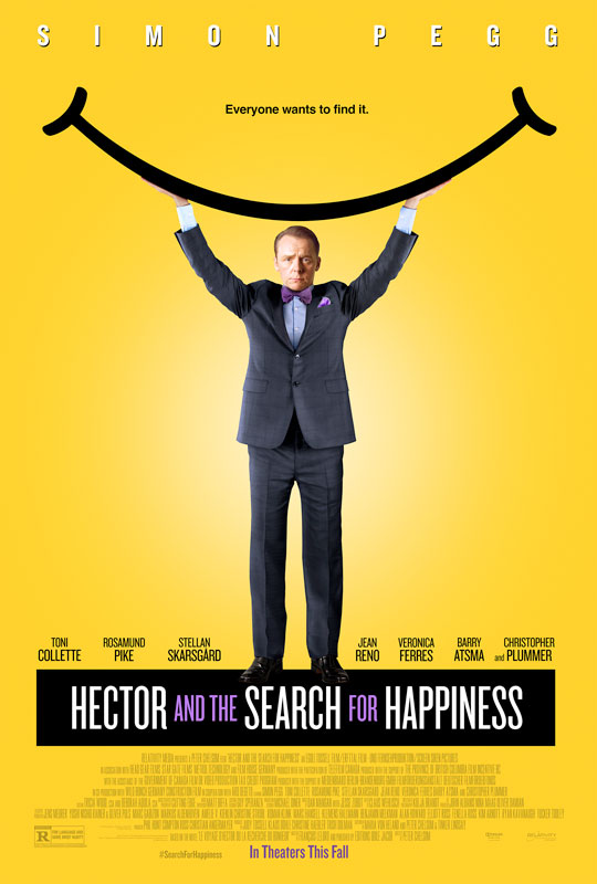 Simon Pegg heads an all-star international cast in Hector and the Search for Happiness, a German-Canadian coproduction directed by Peter Chelsom and filmed on four continents.