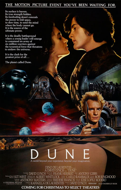 Dune is an adaptation of the first of a series of novels and incorporating some elements from the later novels. The pre-production process was slow and problematic, and the project was handed from director to director.