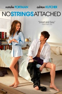 In No Strings Attached, Emma (Natalie Portman) and Adam (Ashton Kutcher) are life-long friends who almost ruin everything by having sex one morning.