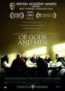 In Of Gods and Men, under threat by fundamentalist terrorists, a group of Trappist monks stationed with an impoverished Algerian community must decide whether to leave or stay.