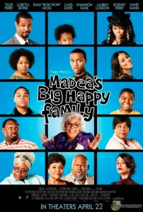 In Tyler Perry's Madea's Big Happy Family, Madea, everyone's favorite wise-cracking, take-no-prisoners grandma, jumps into action when her niece, Shirley, receives distressing news about her health.