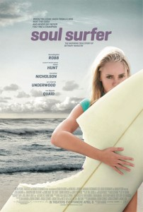 Soul Surfer is about the true story of Bethany Hamilton who's known for surviving a shark attack in which she lost her left arm, and for overcoming the serious and debilitating injury to return to surfing.
