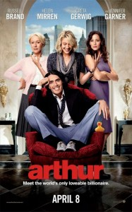 Arthur is a comedy movie directed by Jason Winer. It's actually a remake of the 1981 movie Arthur with Dudley Moore in the lead role.