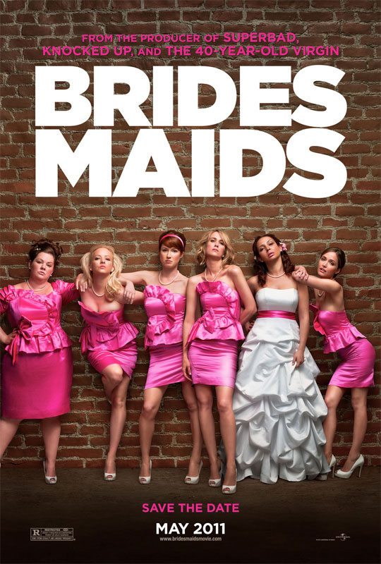In Bridesmaids, picked as her best friend's maid of honor, lovelorn and broke Annie (Wiig) looks to bluff her way through the expensive and bizarre rituals with an oddball group of bridesmaids.