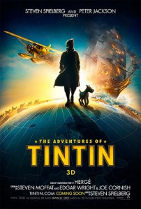 Sony will release The Adventures of Tintin: Secret of the Unicorn poster film during late October and early November 2011 in Continental Europe, Eastern Europe, Latin America, and India. Paramount will distribute the film in Asia, New Zealand, the UK and all other English speaking territories. They will release the film in the United States on December 23, 2011