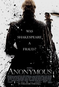 "In response to news that the film Anonymous was in production, James Shapiro, Columbia University English professor and author of Contested Will: Who Wrote Shakespeare?, wrote in the Los Angeles Times titled ""Alas, Poor Shakespeare."""