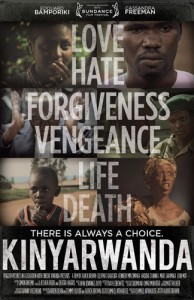 Kinyarwanda premiered at the 27th Sundance Film Festival in January 2011 where it won the World Cinema Dramatic Audience Award