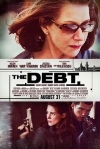 The Debt premiered at the 2010 Toronto International Film Festival in September 2010.