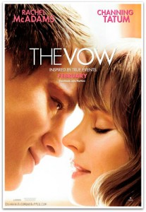 In the Vow, Paige and Leo (Rachel McAdams and Channing Tatum) are a happy newlywed couple whose lives are changed by a car accident that puts Paige in a coma