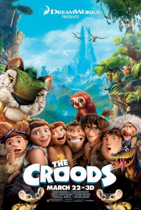 Another key theme in THE CROODS is change and the inherent humor of trying to do things for the first time.