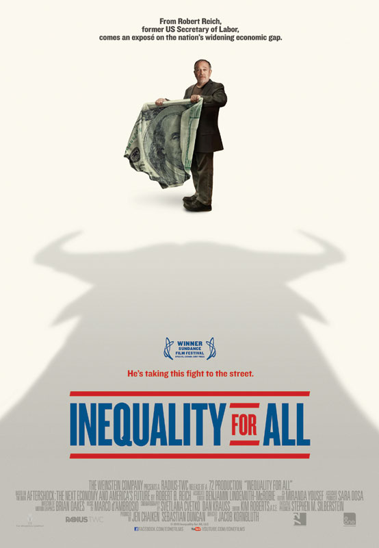 What's the big deal, you may ask? Didn't the wealthy earn it? INEQUALITY FOR ALL is happy to acknowledge that. There is no vilifying of the rich here. The problem is that wide income divisions threaten the health of both the economy and the democracy.