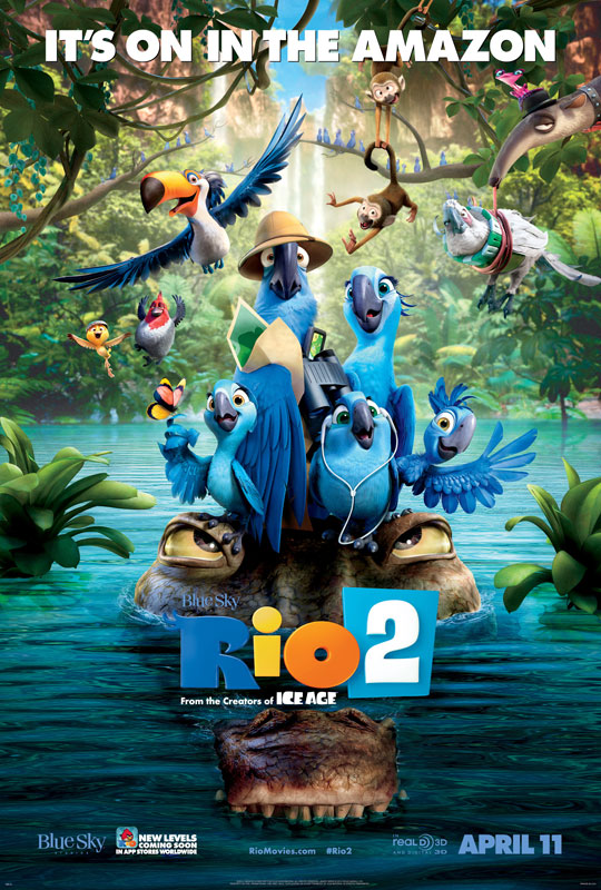 "RIO 2 opens with a grand scene in which the birds we met in the first picture – and a flock of their friends – soar together in a rousing musical celebration, to the song ""What is Love,"" performed by Janelle Monáe"