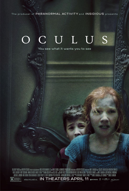 Flanagan's journey bringing Oculus to the screen began with a short film of the same name he wrote and directed in 2005. That film, which was made for just under $1,500 and shot in four days, featured one actor alone in a room with the Lasser glass for the entirety of its thirty-minute running time.