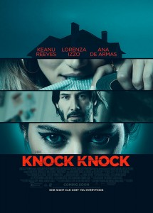 "With Knock Knock, I wanted to see ""Fatal Attraction"" in the age of social media, when what you do in the privacy of your own home suddenly becomes property of the entire world. - Writer/Director Eli Roth"