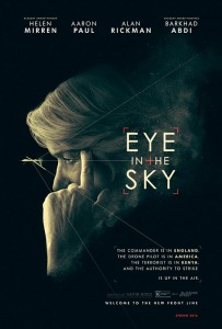 To make sure Eye in the Sky offered an authentic portrayal of modern warfare, the filmmakers enlisted former Royal Artillery Officer Chris Lincoln Jones to serve as the project's military expert. A 25-year veteran of the British military, Major Jones vetted Hibbert's script and advised the filmmakers on everything from the characters' backstories to military jargon to Uniforms.