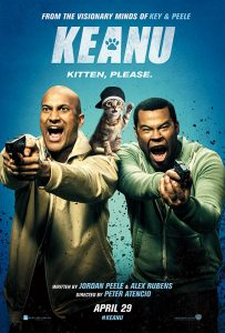 """Keanu"" marks the first time the enormously popular comedy pair have, together, brought their talents to the big screen. The title role of ""Keanu"" is actually played by seven equally adorable brown tabbies, all of which were rescued from shelters."